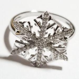 Sterling Snowflake Ring